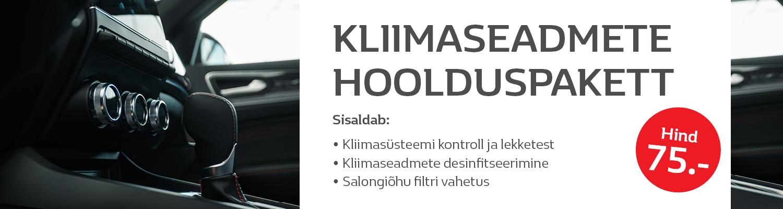 Kliimaseadmete hoolduspakett 75€