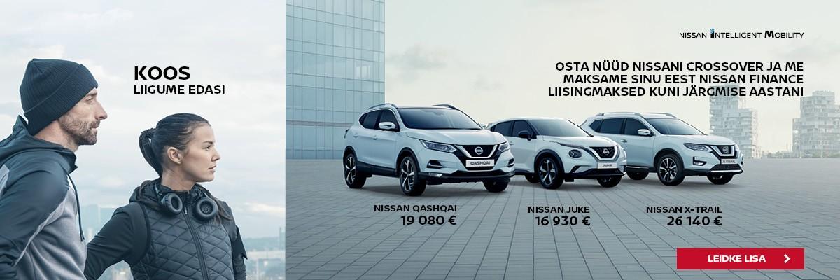 Nissan crossoverite pakkumine